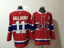 Mens Nhl Montreal Canadiens #11 Brendan Gallagher Red Adidas Jersey With A Patch