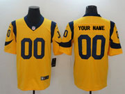 Mens Los Angeles Rams Custom Made Gold Vapor Untouchable Limited Jersey