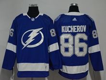 Youth Women Nhl Tampa Bay Lightning #86 Nikita Kucherov Blue Adidas Jersey