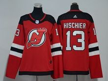 Youth Women Nhl New Jersey Devils #13 Nico Hischier Red Adidas Jersey