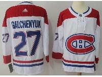 Mens Montreal Canadiens #27 Alex Galchenyuk White Away Adidas Jersey