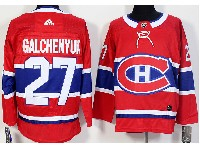 Mens Montreal Canadiens #27 Alex Galchenyuk Red Home Adidas Jersey