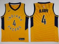 Mens Nba Indiana Pacers #4 Victor Oladipo Yellow Swingman Nike Jersey
