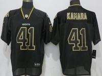 Mens Nfl New Orleans Saints #41 Alvin Kamara Lights Out Black Elite Jersey