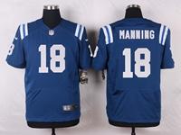 Mens Nfl Indianapolis Colts #18 Peyton Manning Blue Elite Nike Jersey