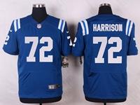 Mens Nfl Indianapolis Colts #72 Harrison Blue Elite Nike Jersey