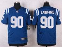 Mens Nfl Indianapolis Colts #90 Kendall Langford Blue Elite Nike Jersey