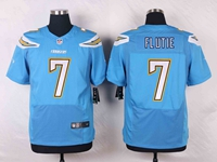 Mens Nfl Los Angeles Chargers #7 Doug Flutie Light Blue Elite Nike Jersey