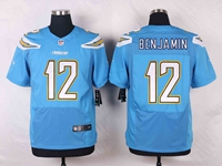 Mens Nfl Los Angeles Chargers #12 Travis Benjamin Light Blue Elite Nike Jersey