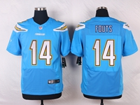 Mens Nfl Los Angeles Chargers #14 Dan Fouts Light Blue Elite Nike Jersey