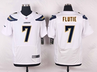 Mens Nfl Los Angeles Chargers #7 Doug Flutie White Elite Nike Jersey