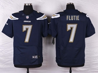 Mens Nfl Los Angeles Chargers #7 Doug Flutie Navy Blue Elite Nike Jersey