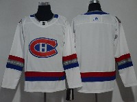 Mens Montreal Canadiens Canadiens Blank 2017 Nhl 100 Classic Breakaway White Adidas Jersey