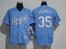 Mens Mlb Kansas City Royals #35 Hosmer Light Blue (royals) Elite Jersey