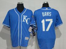 Mens Mlb Kansas City Royals #17 Davis Blue (kc) Elite Jersey