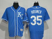 Mens Majestic Kansas City Royals #35 Eric Hosmer Blue (kc) Elite Jersey