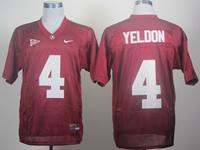 Mens Ncaa Nfl Alabama Crimson #4 T.j Yeldon Red Jersey