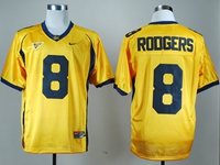 Mens Ncaa Nfl California Golden Bears #8 Aaron Rodgers Gold Jersey