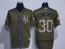 Mens Mlb New York Mets #30 Michael Conforto Green Fashion 2016 Memorial Day Jersey