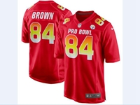 Mens Afc Nfl Pittsburgh Steelers Custom Made Red 2018 Pro Bowl Game Nike Jersey