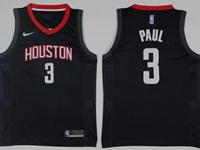 Mens 2017-18 Season Nba Houston Rockets #3 Chris Paul Black Nike Swingman Jersey