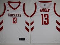 Mens 2017-18 Season Nba Houston Rockets #13 James Harden White Swingman Nike Jersey