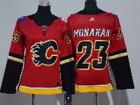 Women Nhl Calgary Flames #23 Sean Monahan Red Adidas Jersey