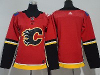 Women Youth Adidas Nhl Calgary Flames Blank Red Jersey
