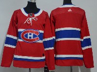 Women Youth Montreal Canadiens Balnk Red Home Premier Adidas Jersey