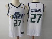 Mens 2017-18 Season Nba Utah Jazz #27 Rudy Gobert White Nike Swingman Jersey