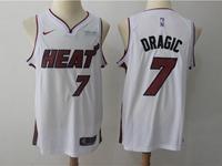 New Mens Nba Miami Heat #7 Goran Dragic White Nike Player Jersey