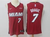 Mens Nba Miami Heat #7 Goran Dragic Red Nike Player Jersey