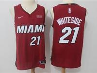 Mens Nba Miami Heat #21 Hassan Whiteside Red Nike Player Jersey