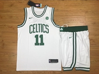 Mens Nba Boston Celtics #11 Kyrie Irving White Nike Suit Jersey
