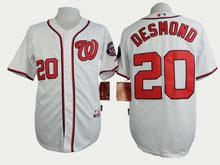 Womens Mlb Washington Nationals #20 Desmond White Cool Base Jersey