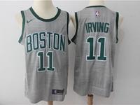 Mens Nba Boston Celtics #11 Kyrie Irving Gray Nike City Edition Swingman Jersey