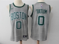 Mens Nba Boston Celtics #0 Jayson Tatum Gray Nike City Edition Swingman Jersey