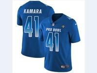Mens Nfl New Orleans Saints #41 Alvin Kamara Blue 2018 Pro Bowl Vapor Untouchable Jersey