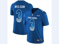 Mens Nfl Seattle Seahawks #3 Russell Wilson Blue 2018 Pro Bowl Vapor Untouchable Jersey
