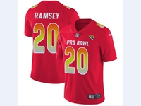 Mens Jacksonville Jaguars #20 Jalen Ramsey Red 2018 Pro Bowl Vapor Untouchable Jersey