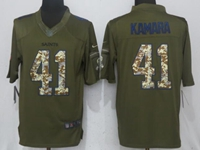 Mens Nfl New Orleans Saints #41 Alvin Kamara Green Salute To Service Nike Limited Jersey