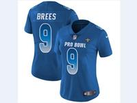 Women Nfl New Orleans Saints  #9 Drew Brees Blue 2018 Pro Bowl Vapor Untouchable Jersey
