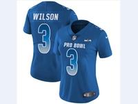 Women Nfl Seattle Seahawks #3 Russell Wilson Blue 2018 Pro Bowl Vapor Untouchable Jersey