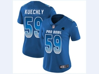 Women Nfl Carolina Panthers #59 Luke Kuechly Blue 2018 Pro Bowl Vapor Untouchable Jersey