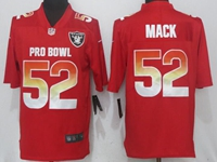 New Nfl Oakland Raiders #52 Khalil Mack Red Nike Royal 2018 Pro Bowl Limited Jersey