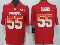 New Nfl Baltimore Ravens #55 Terrell Suggs Red Nike Royal 2018 Pro Bowl Limited Jersey