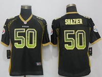 Women Nfl Pittsburgh Steelers #50 Ryan Shazier Black Drift Fashion Elite Nike Jersey