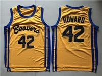 Nba Beacon Beavers #42 Scott Howard Yellow Movie Mesh Jersey