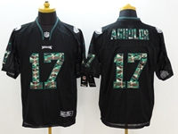 2018 Nfl Philadelphia Eagles #17 Nelson Agholor Black (camouflage Number) Elite Jersey