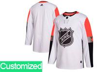 Mens 2018 Nhl All-star Game Custom Made Breakaway Adidas White Jersey